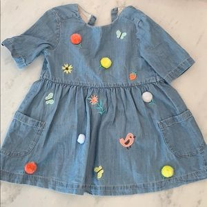 Embroidered Toddler Dress